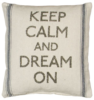 Keep Calm Linen Pillow